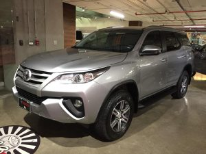2019 Fortuner base version, front view, silver